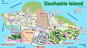 Daufuskie Island Golf Course Map